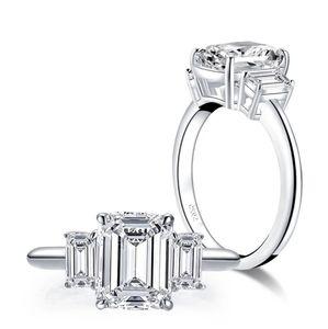 Sona Emerald Cut Diamond Ring S7
